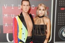 CL With Jeremy Scott At The MTV VMAs 2015
