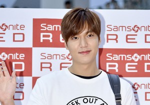 Lee Min Ho at Samsonite Red Fansign Event