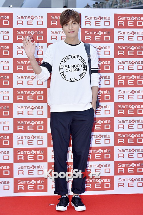 Lee Min Ho at Samsonite Red Fansign Event key=>10 count29