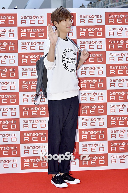 Lee Min Ho at Samsonite Red Fansign Event key=>12 count29
