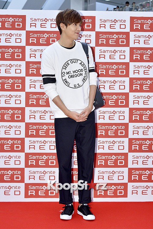 Lee Min Ho at Samsonite Red Fansign Event key=>20 count29