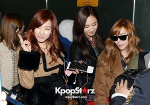Girls Generation at Incheon Airport leaving for SMTOWN LIVE WORLD TOUR III in SINGAPORE