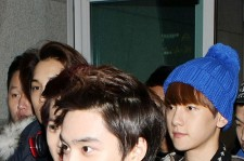 EXO-K at Incheon Airport Leaves for 'SMTOWN LIVE WORLD TOUR III in SINGAPORE'
