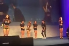 The fan jumped onstage during Girl's Day's Darling performance