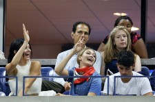 Models Kendall Jenner, Gigi Hadid and Singer Joe Jonas attend the 2015 US Open.