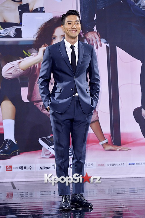 Super Junior's Choi Siwon at a Press Conference of MBC Drama 'She Was Pretty' key=>8 count39