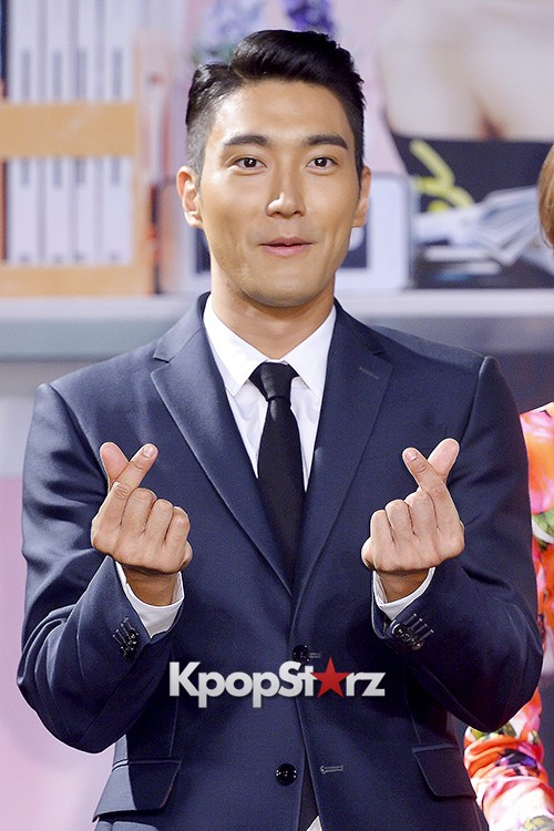 Super Junior's Choi Siwon at a Press Conference of MBC Drama 'She Was Pretty' key=>18 count39