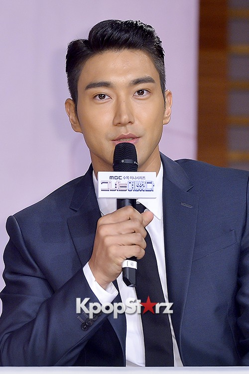 Super Junior's Choi Siwon at a Press Conference of MBC Drama 'She Was Pretty' key=>21 count39