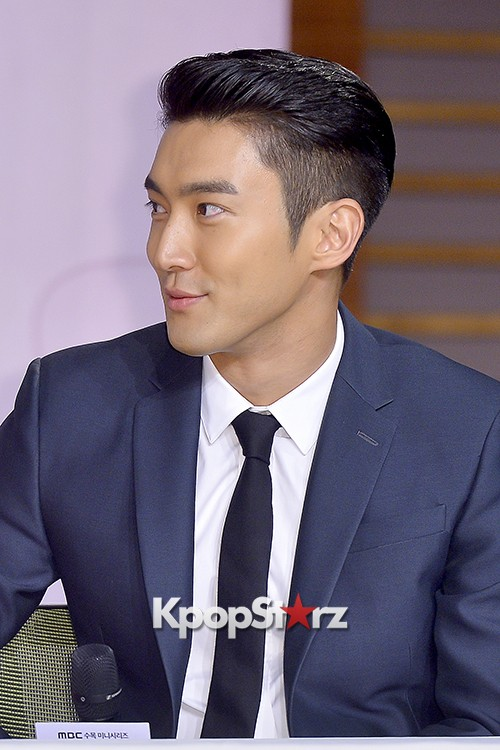 Super Junior's Choi Siwon at a Press Conference of MBC Drama 'She Was Pretty' key=>22 count39