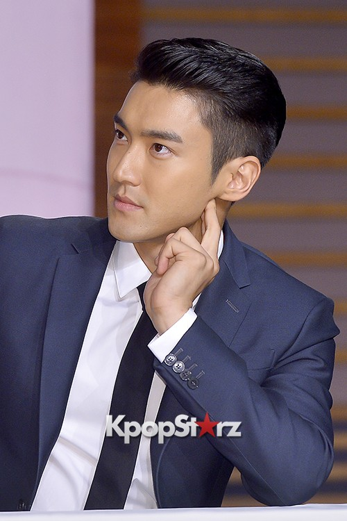 Super Junior's Choi Siwon at a Press Conference of MBC Drama 'She Was Pretty' key=>24 count39