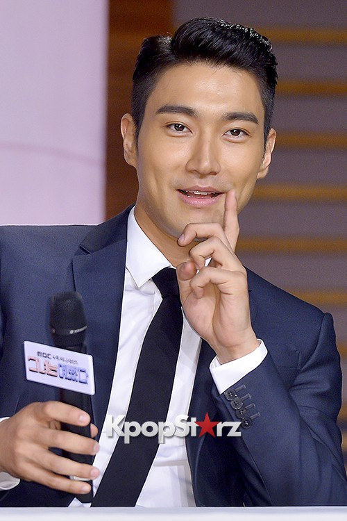 Super Junior's Choi Siwon at a Press Conference of MBC Drama 'She Was Pretty' key=>27 count39