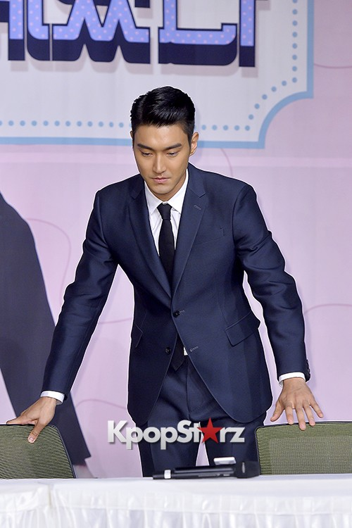 Super Junior's Choi Siwon at a Press Conference of MBC Drama 'She Was Pretty' key=>28 count39