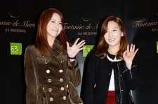 Taeyeon and Yoona attends for HaHa and Byul's wedding