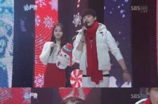 IU-Lee Jong Suk, White and Red Snowmen Outfits 'So Lovely'