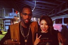 Seo In Young Takes A Close Picture With World Star B.o.B