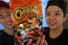 Amber and Scott 'What The Pineapple' Cheetos Challenge