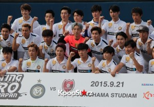 FCMEN Celebrity Soccer Team (JYJ's Junsu, BEAST's Doojoon & Kikwang) Play Charity Match In Japan - September 21, 2015 [PHOTOS]