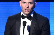 (November 23, 2014) Rapper Pitbull at the 2014 American Music Awards Show