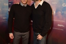 Jensen Ackles and Jared Padalecki attend the CW's Fan Party on November 3, 2014 in Los Angeles, California.