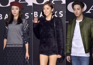 Kim Ah Joong, Son Dam Bi and Lee Soo Hyuk Attend Coach Backstage Party Event - Oct 2, 2015 [PHOTOS]
