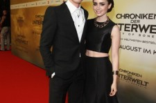 Jamie Campbell Bower and Lily Collins.