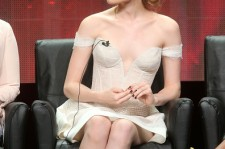 Skyler Samuels speaks onstage during the 'Scream Queens' panel discussion of the 2015 Summer TCA Tour on August 6, 2015 in Beverly Hills, California.