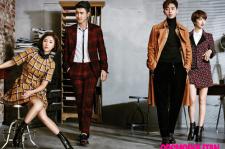 She was Pretty Cast Cosmopolitan Magazine October 2015 Photoshoot Fashion
