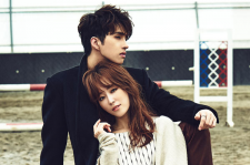 Actress Seo Hyun Jin and VIXX's Ken Singles Magazine October 2015 Photoshoot