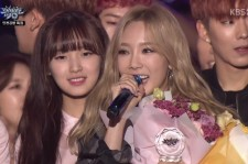 Taeyeon win on 'Music Bank'