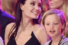 Angelina Jolie and Shiloh Jolie-Pitt at the 2015 Nickelodeon Awards.