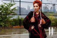 2NE1 Sandara Park W Korea Magazine November 2015 Photoshoot Fashion