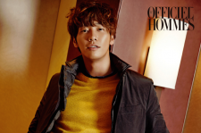 Kim Young Kwang L'Officiel Hommes Magazine October 2015 Photoshoot Fashion