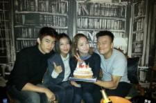 Park Jin Young Birthday Party Picture, 'Taecyeon-Yoobin-Yeeun Thanks'