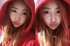 2NE1 Minzy Pouty Lips