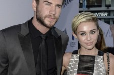 Liam Hemsworth and Miley Cyrus at Relativity Media's