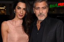 Amal Alamuddin and George Clooney at the