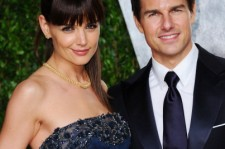 Katie Holmes and Tom Cruise at the 2012 Vanity Fair Oscar Party.
