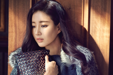 Korean actress Kim Sa Rang Marie Claire Magazine November 2015 Photoshoot fashion