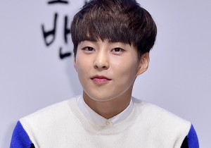 EXO's Xiumin Attends a Press Conference of Samsung Web Drama 'Fall in Challenge' - Oct 26, 2015