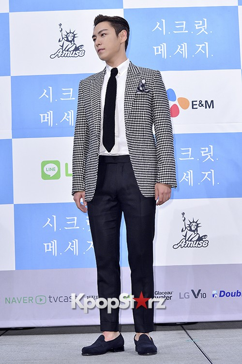 Big Bang's T.O.P Attends a Press Conference of Web Drama 'Secret Message' - Oct 28, 2015key=>2 count42