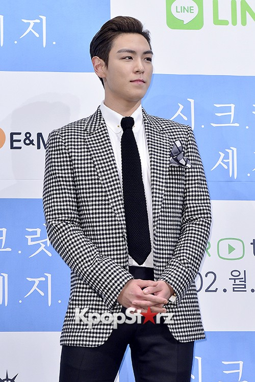Big Bang's T.O.P Attends a Press Conference of Web Drama 'Secret Message' - Oct 28, 2015key=>9 count42