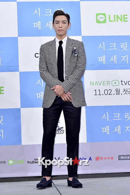 Big Bang's T.O.P Attends a Press Conference of Web Drama 'Secret Message' - Oct 28, 2015key=>10 count42