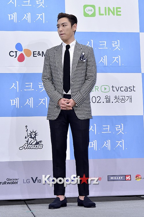 Big Bang's T.O.P Attends a Press Conference of Web Drama 'Secret Message' - Oct 28, 2015key=>12 count42