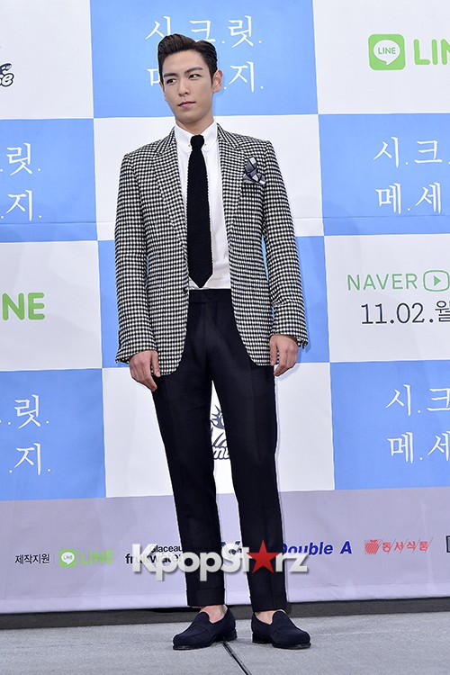 Big Bang's T.O.P Attends a Press Conference of Web Drama 'Secret Message' - Oct 28, 2015key=>13 count42