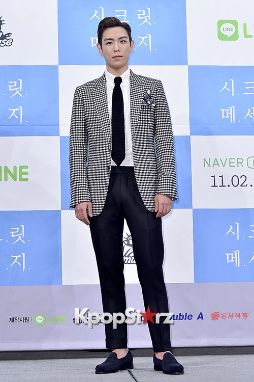 Big Bang's T.O.P Attends a Press Conference of Web Drama 'Secret Message' - Oct 28, 2015key=>18 count42