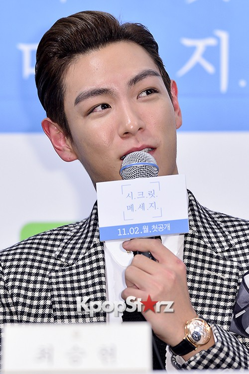 Big Bang's T.O.P Attends a Press Conference of Web Drama 'Secret Message' - Oct 28, 2015key=>34 count42