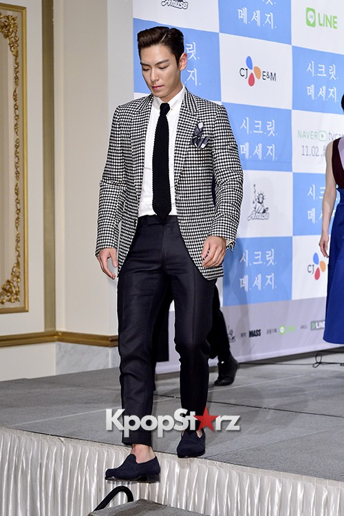 Big Bang's T.O.P Attends a Press Conference of Web Drama 'Secret Message' - Oct 28, 2015key=>35 count42