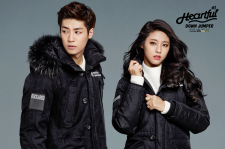 AOA's Seolhyun and N.Flying's Seunghyub Buckaroo 2015 Fall Winter Photos