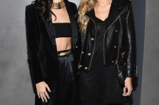 Kendall Jenner and Gigi Hadid attend the BALMAIN X H&M Collection Launch on October 20, 2015 in New York City.