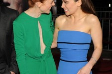 Rose Leslie and Emilia Clarke at the premiere of HBO's 'Game Of Thrones' Season 3.